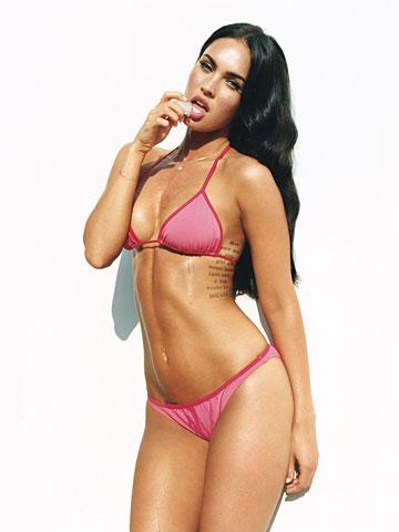 Too seemed megan fox pink bikini think