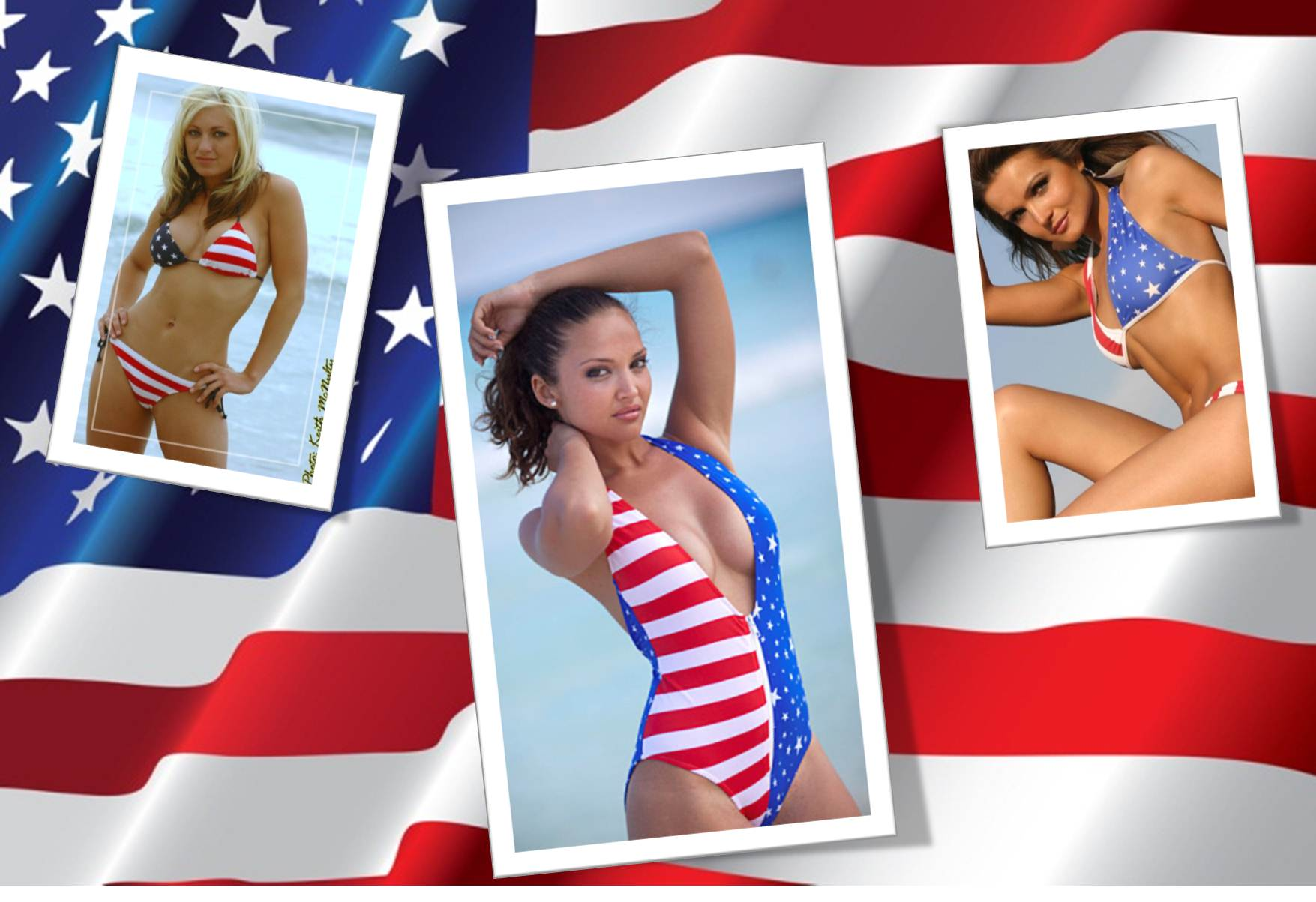 american babes wearing patriotic bikinis are fucking outdoor  385331